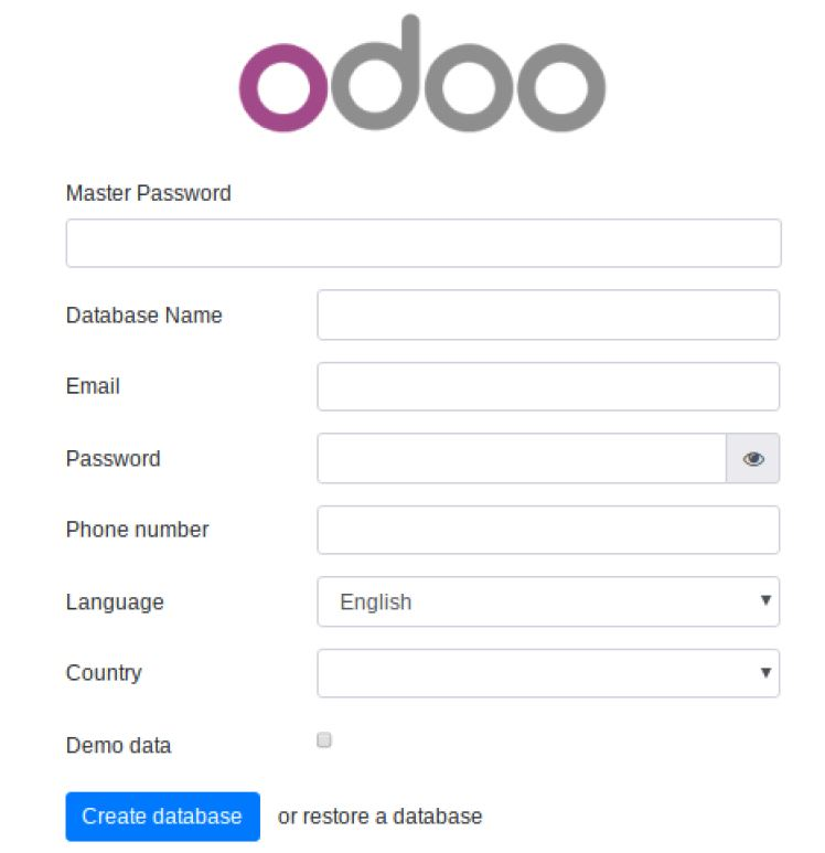 Our Odoo 12 Community server installation
